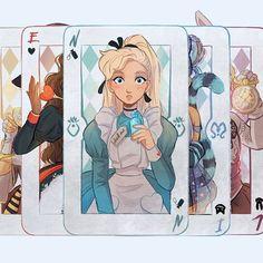 the Mystical deck is complete Cartoon Kunst, Anime Kunst, Cartoon Art, Anime Art, Disney Drawings, Cartoon Drawings, Cute Drawings, Disney Kunst, Disney Art