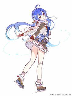 白猫プロジェクト、ノア Female Character Design, Character Design Inspiration, Character Concept, Character Art, Anime Drawing Styles, Drawing Poses, Otaku, Chibi, Butler Anime