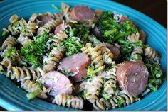 PBF - Whole grain rotini pasta tossed in olive oil, Apple chicken sausage, Steamed broccoli, Mozzarella cheese