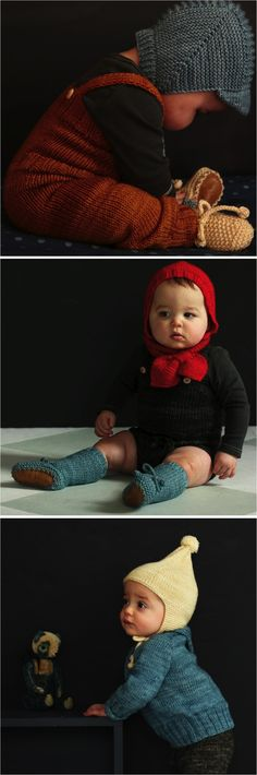 """hand knit baby clothes"" @Martha V you need to see these adorable knits. I wish the pattern were available."