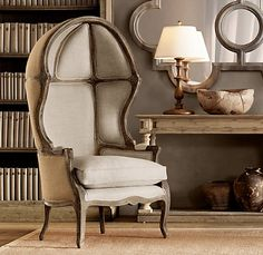 Versailles Domed Burlap-Backed Chair | Chairs | Restoration Hardware   Wow!