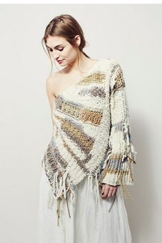 Unspun x Free People Cumulus Off Shoulder Sweater at Free People Clothing…