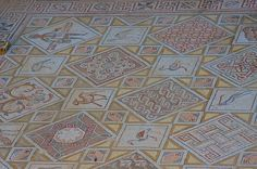 Mosaic at Church of St. George, Jerash with Swastika Symbols