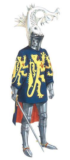 Robert de Masmines, Grand Armorial équestre de la Toison d'Or, Flandres, 1430-1461.