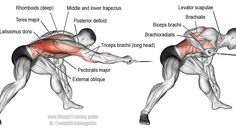 Bent-over one-arm cable pull exercise