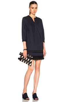 DEREK LAM 10 CROSBY Pintuck Dress in Midnight   FWRD