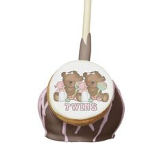 Shop Custom Personalized Cake Pops Blank Template created by CustomBlankTemplates. Wood Wedding Cakes, Wedding Cake Pops, Wedding Desserts, Chocolate Cake Pops, Chocolate Filling, Chocolate Treats, Birthday Party Treats, Birthday Cake Pops, Baby Shower Treats