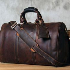 fce5f77a085c Leather Mens Cool Large Weekender Bag Travel Bag for Men. Fashion  BagsFashion HandbagsMens ...