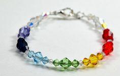 Chakra Swarovski Crystal Bracelet