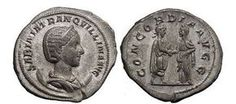 Ancient Coins - TRANQUILLINA, 241 AD. Silver Antoninianus. Wedding Celebration Coin. Splendid