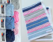 From my friend Maaike's Etsy shop creJJtion, a lovely crochet kit for a baby blanket : pattern and yarn included!