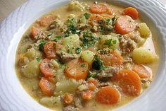 Kartoffel-Hackfleisch-Topf mit Schmand und Möhren, ein sehr leckeres Rezept aus der Kategorie Kochen. Bewertungen: 93. Durchschnitt: Ø 4,5.