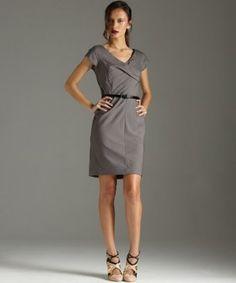 MICHAEL Michael Kors eclipse belted cross front dress   BLUEFLY up to 70% off designer brands at bluefly.com