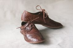 The Club. Adorable women's leather oxfords from Etsy. $120.