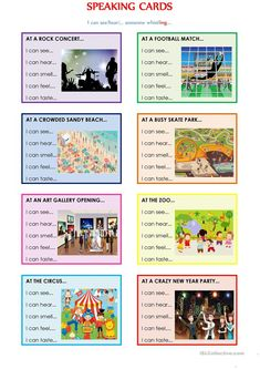 SPEAKING CARDS (I can see someone +ing .) worksheet - Free ESL printable worksheets made by teachers SPEAKING CARDS (I can see someone +ing .) worksheet - Free ESL printable worksheets made by teachers English Games, English Activities, English Grammar Worksheets, English Vocabulary, English Language Learning, Teaching English, English Lessons, Learn English, Ingles Kids