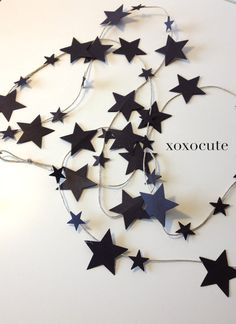 2 HALLOWEEN GARLAND DECORATION Little stars decoration by xoxocute