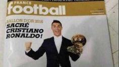 Se filtra portada de revista francesa con Cristiano Ronaldo como ganador de Balón de Oro