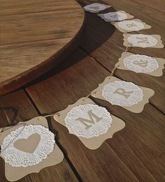 MR & MRS Wedding banner-doilies-decoration -rustic bunting flags/garland - sign in Home & Garden, Wedding Supplies, Venue Decorations | eBay!