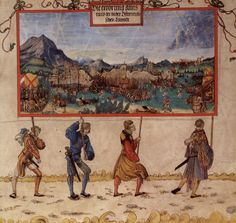 Artist: Albrecht Altdorfer Title: Triumphzug Kaiser Maximilians, Entwurf zu »Der Ungarische Krieg«.  Date: 1513-1515