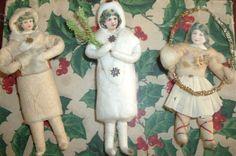 Antique Cotton Christmas Ornaments...Children