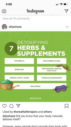 Dr Axe, Spirulina, Alternative Health, Did You Know, Knowing You, Detox, Stuffed Mushrooms, Herbs