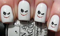 Nail WRAPS Nail Art Water Transfers Decals - Joker Face - S418 | eBay