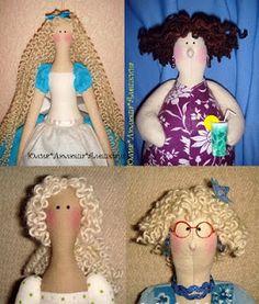 Mimin Dolls: cabelos para tildas