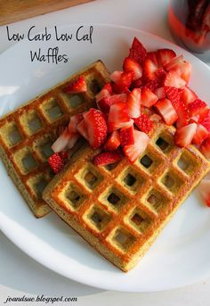 Jo and Sue: Low Carb Low Cal Waffles - 67 calories, 6 carbs, 3 fat, 5 protein per waffle. It's true!