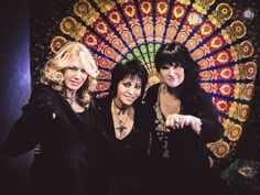 Ann and Nancy Wilson and Joan Jett 2015.