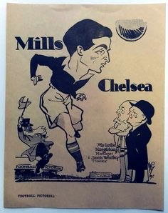 George Mills 1930s Chelsea FC caricature