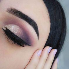Pretty Smokey Eye Makeup Idea for Brown Eyes