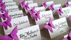 Origami Butterfly Place Cards, Wedding Escort Cards - Favor sets of 20 -any color paper on Etsy, $27.53 AUD