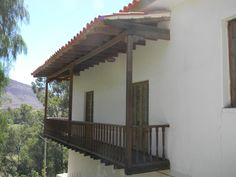 the beauty of the countryside could be observed from these balconies, typically Spanish in style.