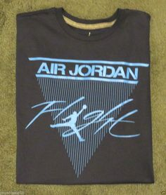 MEN'S SIZE XL NIKE AIR JORDAN FLIGHT T-SHIRT BLUE BASKETBALL JUMP MAN TEE NWT