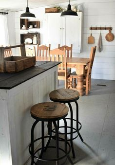 lamps and stools