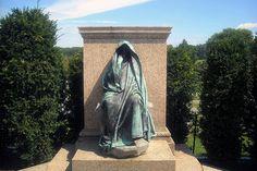 "Adams Memorial by Saint-Gaudens or the ""Grief Sculpture"", Rock Creek Cemetery in Washington, DC"
