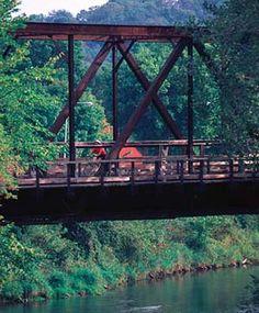 Lanesboro, MN.  Favorite vacation spot in 2011.  Great biking, tubing, camping, and more!
