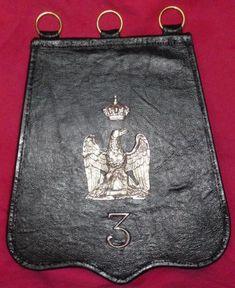 Sabretache du 3e régiment de Gardes d'Honneur en 1812.