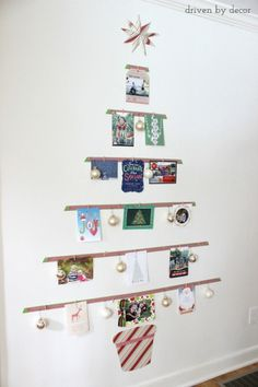 how to turn your cards into a christmas tree display display