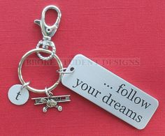 Personalized Pilot Key Chain Follow Your by BrokeStudentDesigns, $10.00