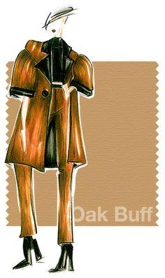 Oak Buff Pantone - Fabulous Fall Color Trends With Matching Swarovski Crystal Hues!