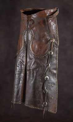 S.C. Gallup Studded chaps, gorgeous. Sold at auction for $2200 June 2013
