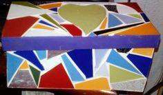 Caixa de Chá mosaico