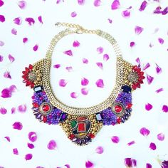 The #CharlotteNecklace is one of our Master piece #Jewerly #Summer #Spring #Flowers #Colorful