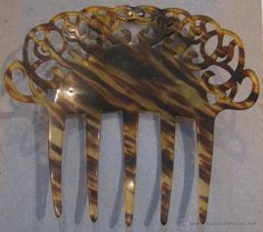Antigüedades: ANTIGUA PEINETA DE CELULOIDE - Foto 2 - 54348332