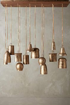 old bells = lights! <3 Campanology Chandelier, Fourteen-Light - anthropologie.com