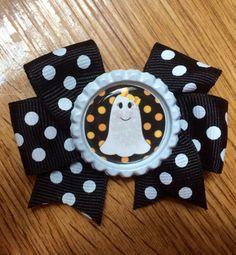 Halloween Bow  Halloween Polka Dot Bow by MimisBowsandMore on Etsy