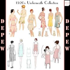 Vintage Sewing Patterns The Underneath Collection Bra Lingerie Patterns, Sewing Lingerie, Lingerie Set, Clothing Patterns, Clothing Styles, 1920s Outfits, Vintage Outfits, Vintage Clothing, Mccalls Patterns