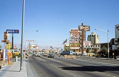 Las Vegas Strip, 1979. Photographer Ned Paynter walked the three miles of the strip one morning in '79, from Flamingo Rd, up past Sahara.