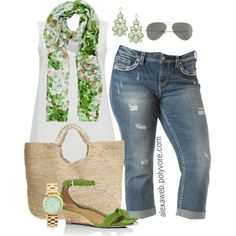 """#plus #size #outfit #Summer  """"Plus Size - Green Envy"""" by alexawebb on Polyvore"""